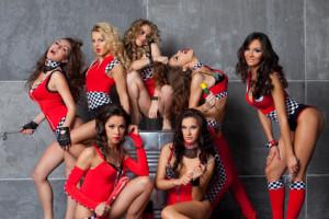 Sexy girls racing team